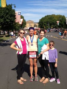 My sisters and I after the last Rock 'n' Roll Half in Philly (2013).