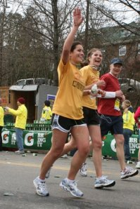 Caitlin and I, as bandits during the Boston Marathon in 2009.