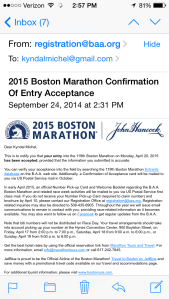 I'M REGISTERED FOR BOSTON 2015