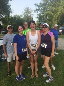 Family at the 7k.